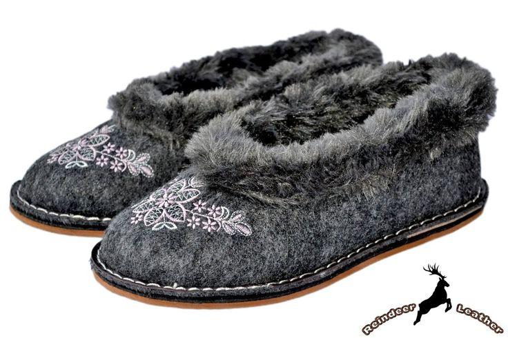 Veronica Black Moccasin Fur Collar Shoes
