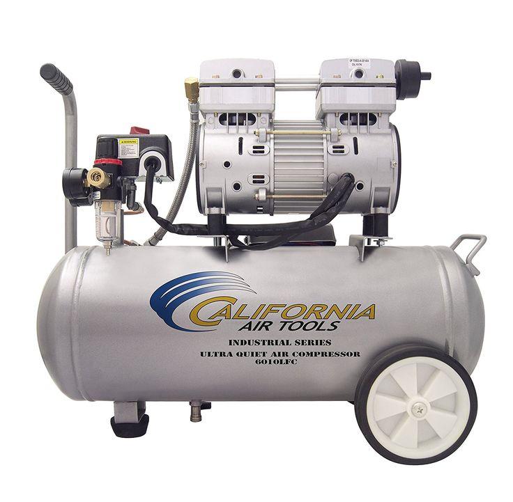 California Air Tools 6010LFC 1.0 HP Ultra Quiet and Oil Free Industrial Compressor, 6.0 Gallon