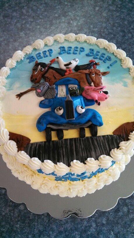 little blue truck cake sign | little blue truck cake by Christina's Cakery