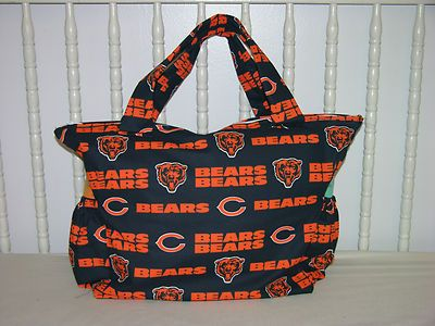 New Baby Diaper Bag Made w Chicago Bears Fabric | eBay