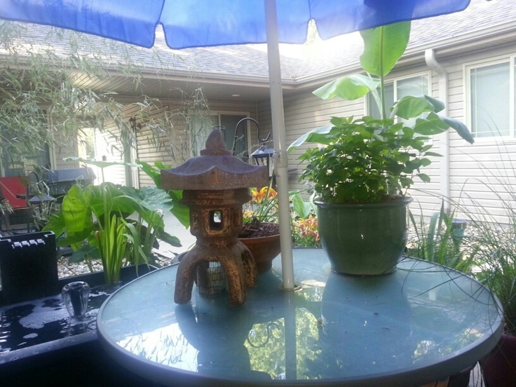My meditation and relaxation area...my patio