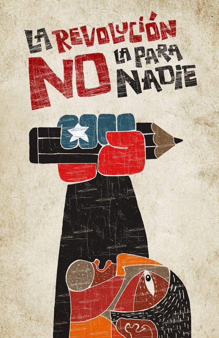 Tinta Chilena: Afiche estudiantes