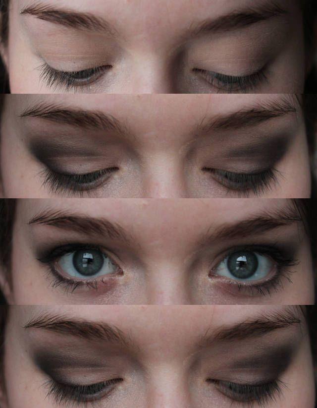 Moulin Rouge makeup tutorial - NYX Eye Shadow  in Stripped, Urban Decay Naked Palette, Ulta Demi Eyeshadow in Havana Nights, CoverGirl Flame... MAKEUP