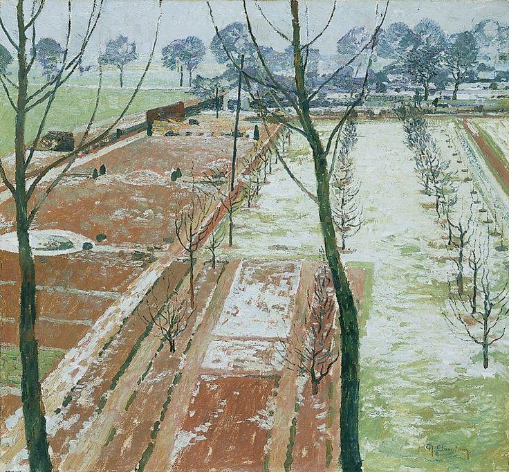 Max Clarenbach, BLICK IN EINEN GROSSEN GARTEN., Auktion 909 Alte Kunst, Lot 1511