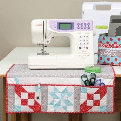 Pattern Freebies: GO! Sewing Machine Organizing Mat Pattern | National Quilters Circle  #LetsQuilt #quilting #quilters #quilt