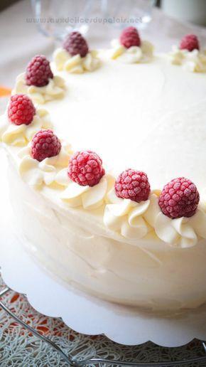 Recette gâteau à étages framboises & nappage sans beurre; Salam allaicom, bonjour me voila de retour avec un autre Layer cake après celui au chocolat S