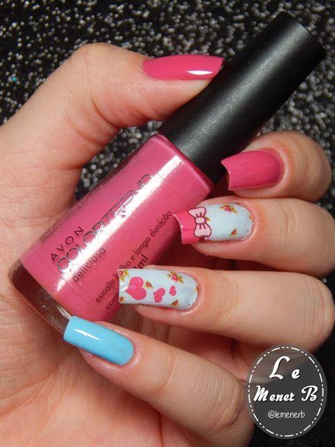 #unha #decorada #decoração #nail #art #flores #flower #love #beauty #fashion #película #adesivo #esmalte #preto #colorama #rosa #pink #flowers #salmon #salmão #lacquer #polish #camila #coelho #coração #heart #animal #print #zebra #coroa #rei #king #queen #rainha #azul #blue #arabesco #glitter #brilho #frozen #olaf #paint #brush #étnico #étnica #ombré #degradê