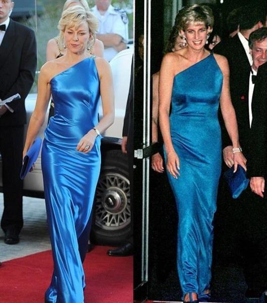 Принцесса диана синее платье