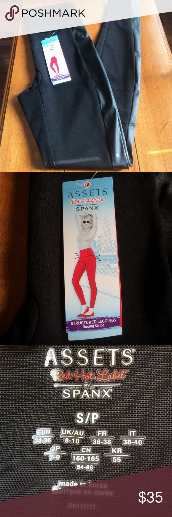 Black Assets Spanx Leggings Size Small New with tags. Assets By Spanx Pants Leggings