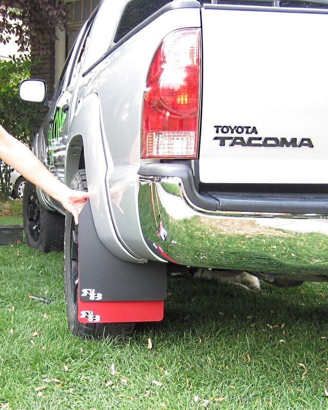 Car Mudguard Car Mud Flap for Toyota Tacoma 2005-2015 Fender Mud Guard Splash Flaps Mudguards Accessories Color : Black