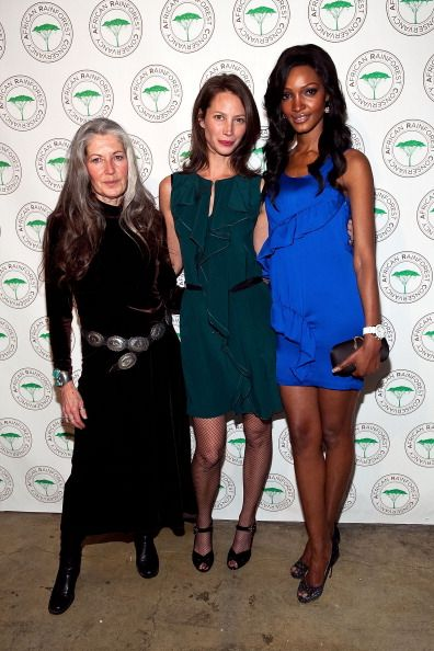 Gloria Flora Christy Turlington Burns and Millen Magese attend the African Rainforest Conservancy's 20th anniversary Artists for Africa Celebration...