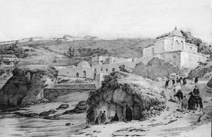 Caserne  Salpétrière  et  Faubourg  de Bab-El-Oued en 1837