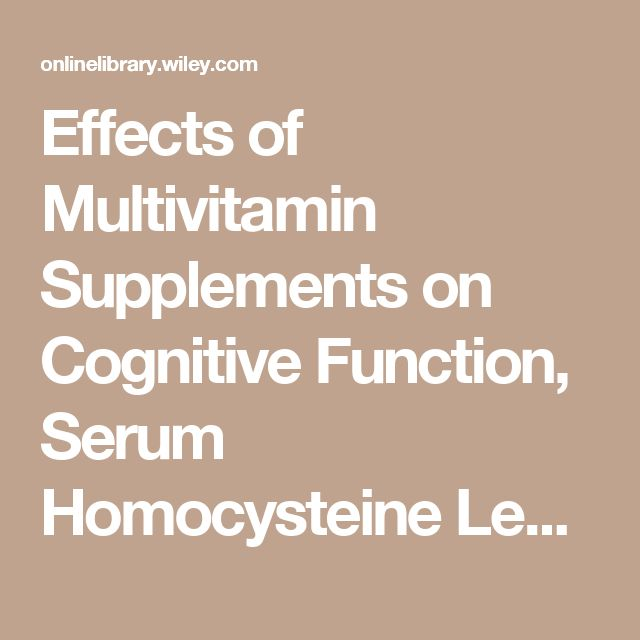 Effects of Multivitamin Supplements on Cognitive Function, Serum Homocysteine Level, and Depression of Korean Older Adults With Mild Cognitive Impairment in Care Facilities - Lee - 2016 - Journal of Nursing Scholarship - Wiley Online Library