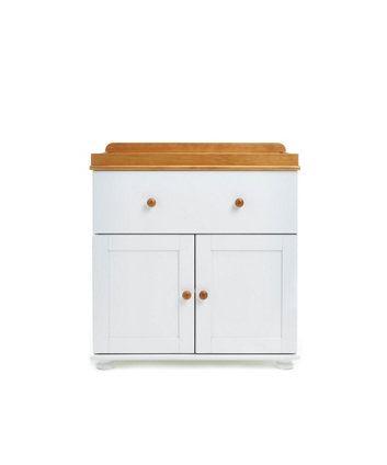 OBaby Closed Changing Unit   White U0026 Pine