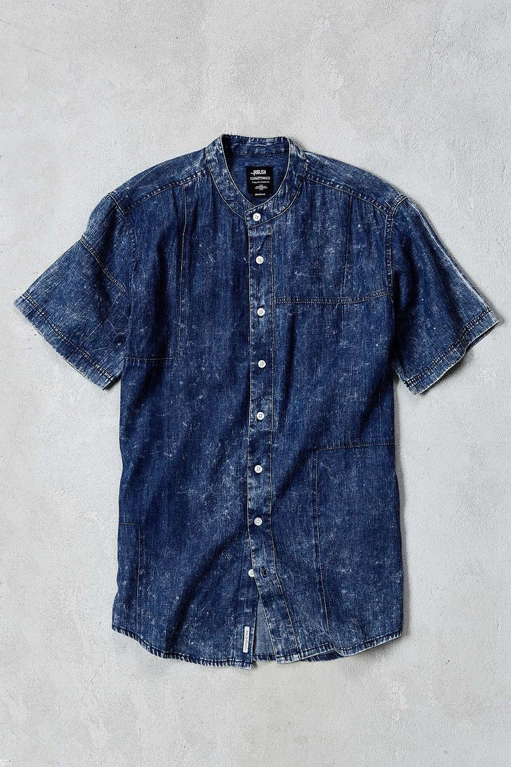 Publish Camilo Denim Short Sleeve Button Down Shirt