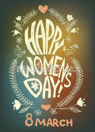 8 march, happy women's day — Стоковое векторное изображение © sigrlynn_ #64444851