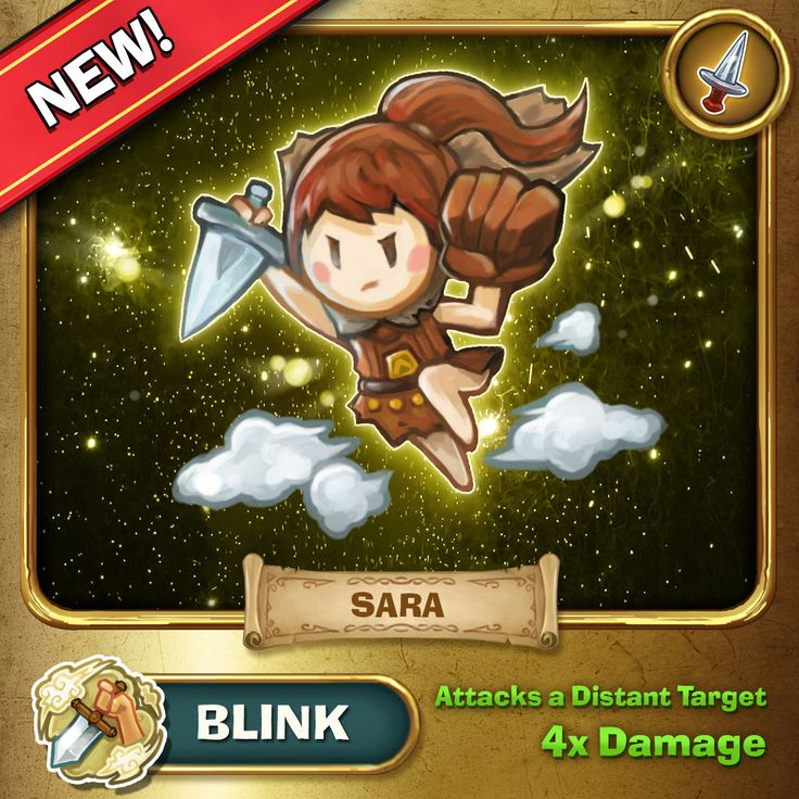 Sara's second special move allows her to appear behind an enemy and attack for more damage! If she successfully kills the enemy she will blink back to her starting point!