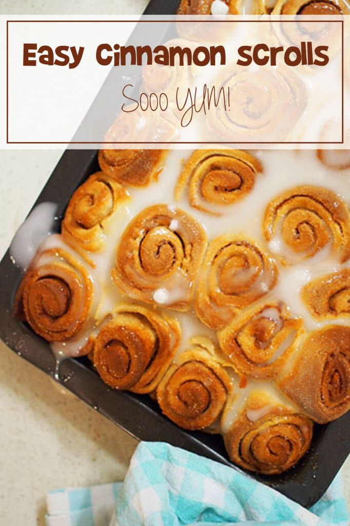 Easy, delicious cinnamon scrolls recipe. YUM!! |  Find it at www.keepcalmgetorganised.com.au/cinnamon-scrolls-recipe/