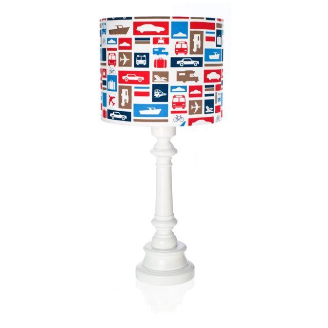 "Lampa ""Transport granatowy""  Zobacz inne produkty: http://bit.ly/1mHiui1  #lamps #forkids #design #dizajn"
