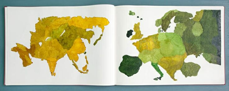 Atlas of smal and large observations, Handmade artist book,  Copenhagen, 2013 Cecilia Westerberg