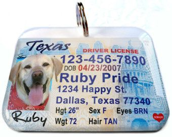 Each tag is handmade and made per order. It is personalized with your pet info and photo.  All 50 states in USA available. This item is made of