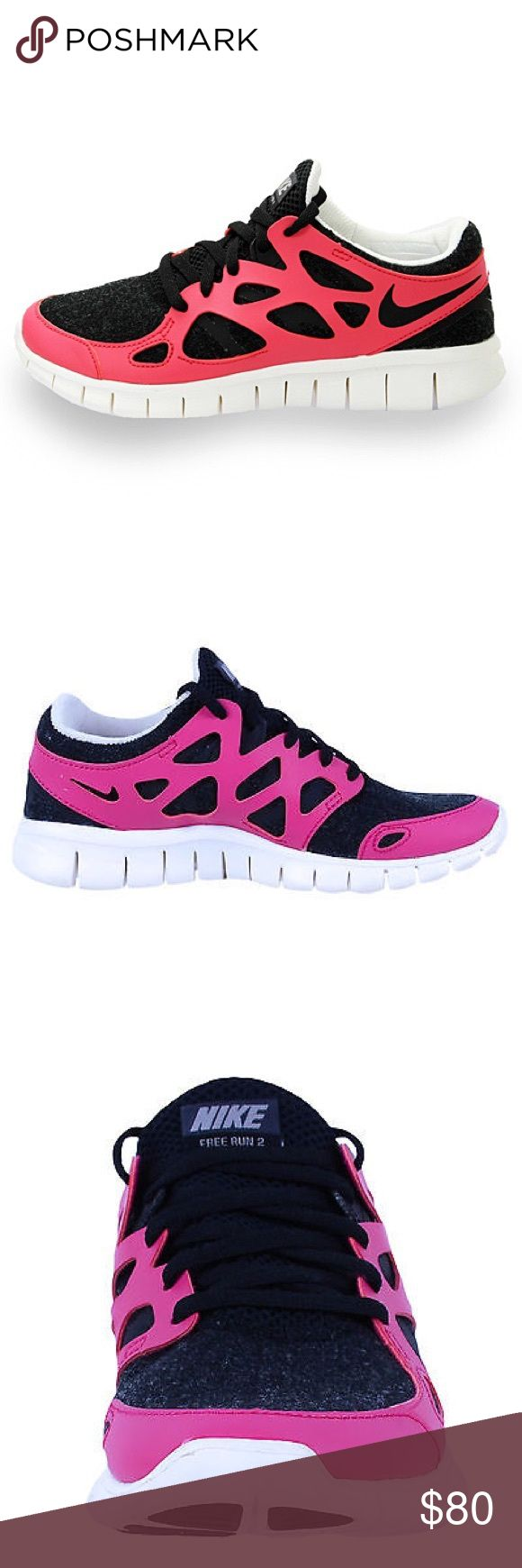 Nike Free Run 2 Pink and black Nike Free Run 2. EXTREMELY comfortable and stretchy shoes. Definitely worth the buy! Nike Shoes Athletic Shoes
