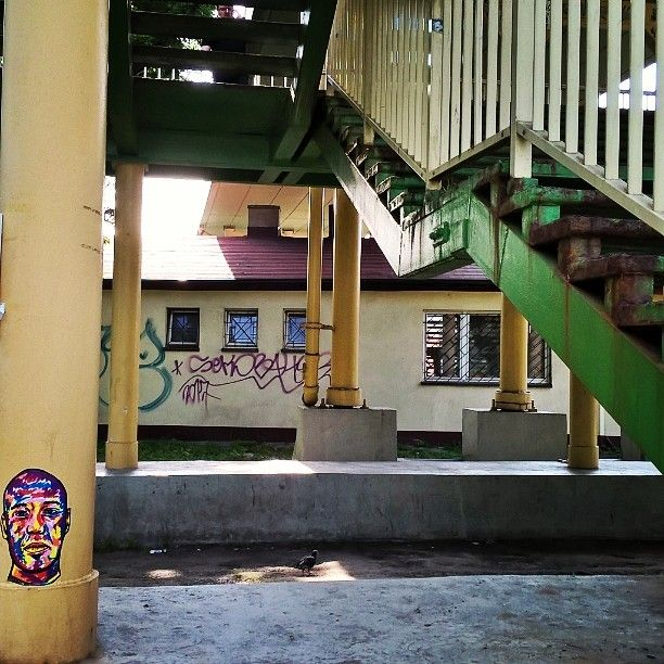 Bombing   Stickers in the city  @thegrouch  Art @BARTakaBA    #stickers #rap #art #music #streetart #bartakaba #BA #hip hop #bielskobiala #city #bb #grouch #livinglegends #colors #musicart #music