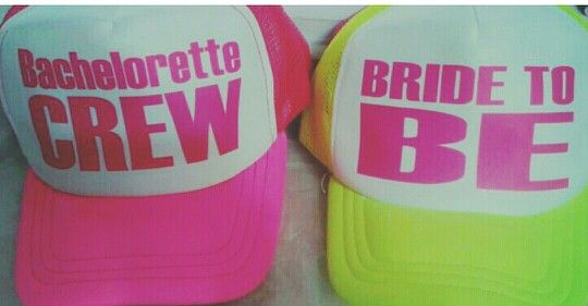 Gorras para despedida de soltera #bridetobe #bachelorettecrew #bachelorette #gorras #neon www.facebook.com/fiestontampico