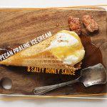 Pecan Praline Ice Cream & Salty Honey Sauce