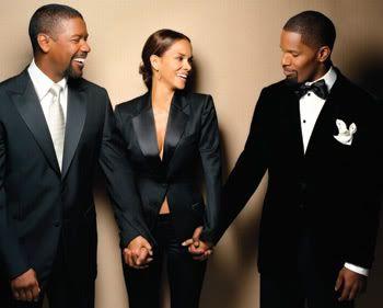 Denzel Washington, Halle Berry & Jamie Foxx, all three Academy Award Winners