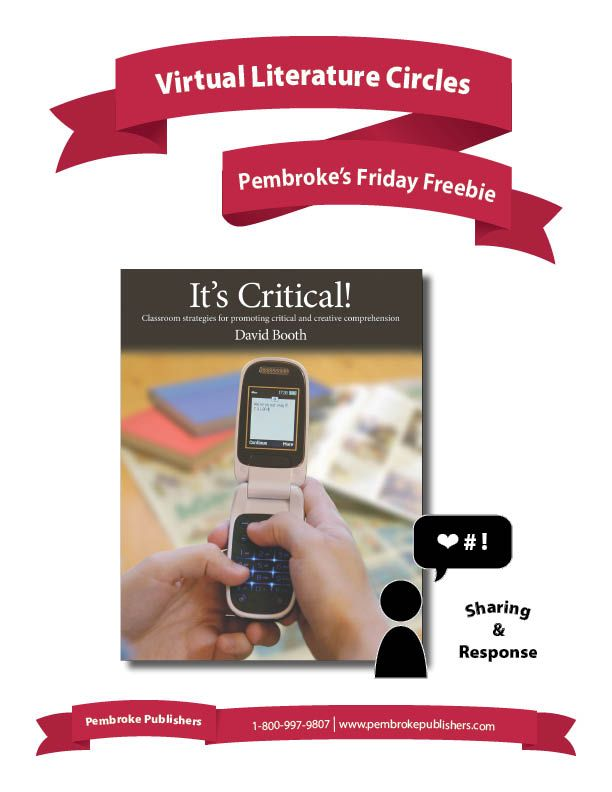 Looking for ways to incorporate new technologies and digital literacies into reading comprehension? How about a virtual literature circle, that students can add to and comment on? David Booth's It's Critical! illustrates one way to do just that, and inspire all kinds of new sharing, connections, and meaningful conversation.