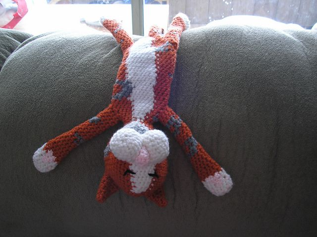 Laid-Back Cat Amigurumi pattern by Pam Grennes Ravelry ...