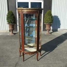 Antique and Vintage Furniture For Sale - Victorian French Mahogany Virtrine or Curio Cabinet - R J Horner