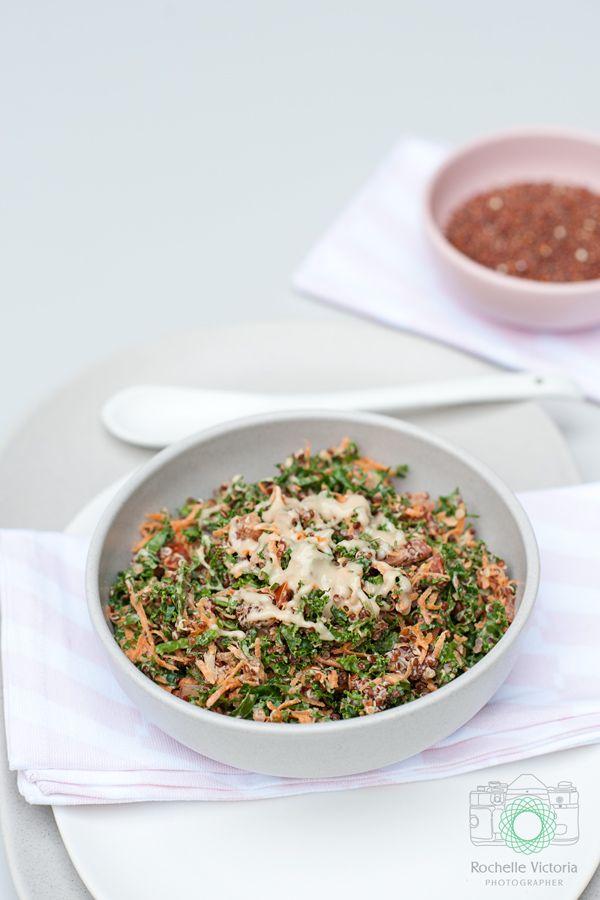 Simple Kale Salad Recipe: Rochelle Victoria Blog healthy eating quinoa