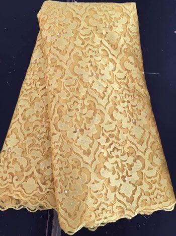 Новое Поступление Высокое Качество Африки Французский чистая Кружевная Ткань С камни Тюль Кружевной Ткани Для Больших Случаю платья VIMG23 ЗОЛОТО купить на AliExpress