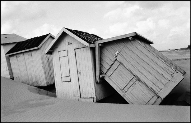 Beach Huts   BERCK, France—1984.  © Jean Gaumy / Magnum Photos