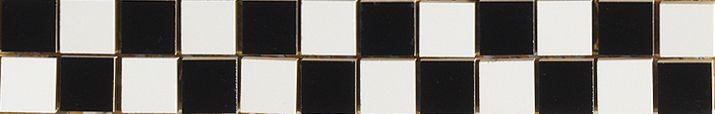 Listello Scacchi B/N 2,5x2,5 - obkládačka listela 5 x 30 bílá/černá