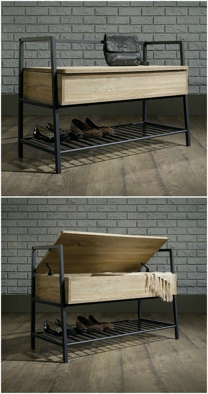 Get Your Shoes And Boots Under Control With These 12 Storage Ideas Bench With Shoe Storage Shoe Storage Metal Furniture