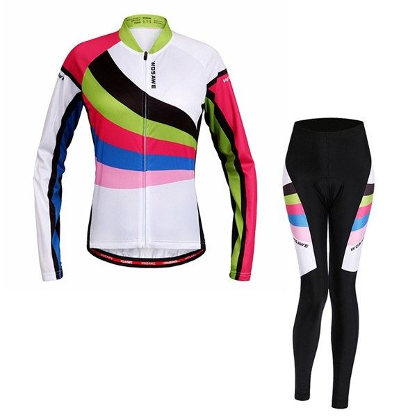 47.69$  Watch here - http://dic74.justgood.pw/go.php?t=187904203 - High Quality Breathable Long Sleeve Jersey + Pants Outdoor Cycling Suits For Women 47.69$