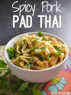 Spicy Pork Pad Thai Recipe