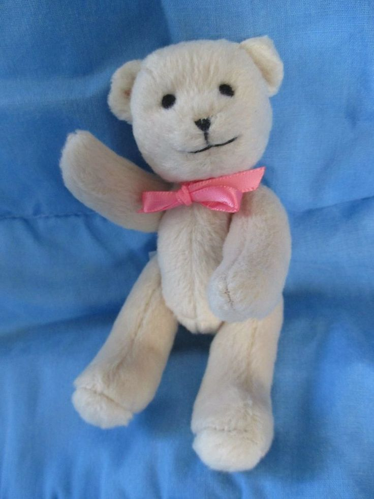 "American Girl Bitty Baby Doll Plush Teddy Bear Jointed Stuffed Animal 5""  #AmericanGirl #PetsAnimals"