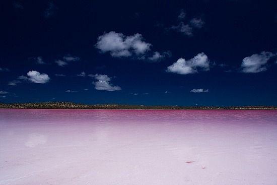 The Hutt Lagoon (Pink Lake), Geraldton, Australia