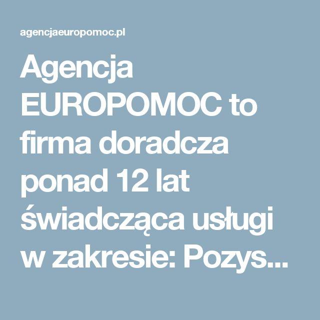 Agencja EUROPOMOC to firma doradcza ponad 12 lat świadcząca usługi w zakresie:      Pozyskiwania dotacji i funduszy unijnych     Obsługi i realizacji projektów unijnych – zarządzania projektami     Rozliczania projektów i opracowywania wniosków o płatność     Przygotowania projektów  do kontroli, monitoringu projektów     Audytów i raportów ewaluacyjnych     Opracowywania biznesplanów, studiów wykonalności      Opracowywania analiz, raportów i ekspertyz     Opracowywania strategii rozwoju…