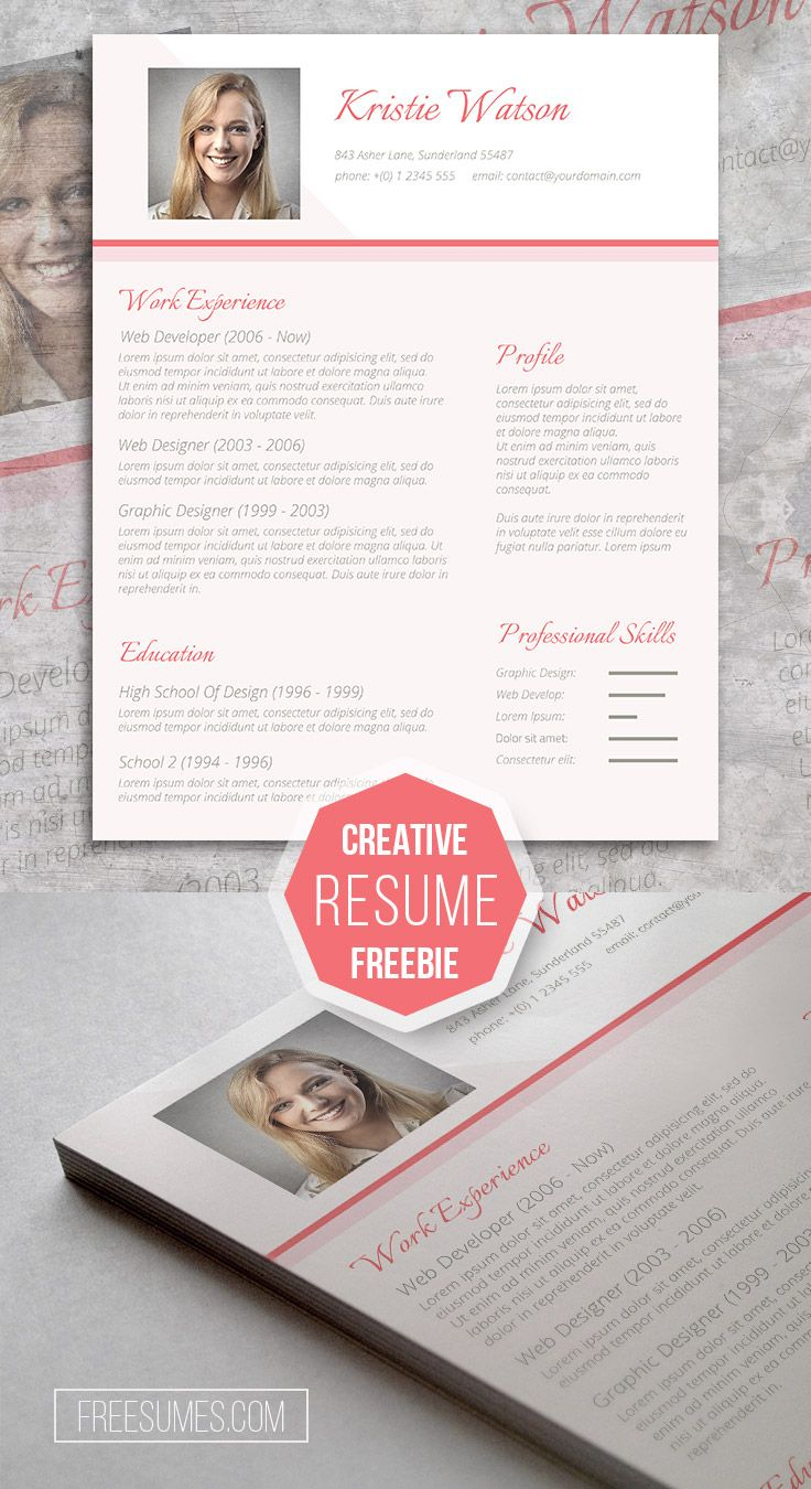 CV Template Freebie For Sophisticated Ladies