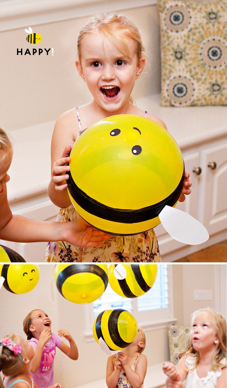 Buzz, buzz, buzzzzzzzzzzzz! These DIY Bumble Bee Balloons are such a fun project for any bee-themed birthday party or baby shower... or just as a fun surpr