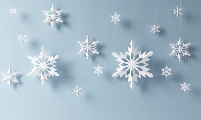 Manual copos de nieve de papel - Decoracion navidad papel ...