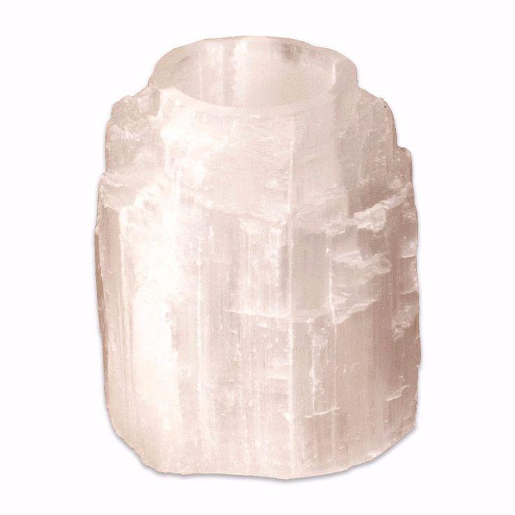 Selenite Crystal Candleholder