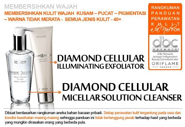Diamond Cellular Illuminating Exfoliator | Diamond Cellular Micellar Solution Cleanser |  #pembersih #wajah  #kusam #pucat #pigmentasi #warna #tidakmerata #semujenis #kulit #40+ #tipsdBCN #Oriflame