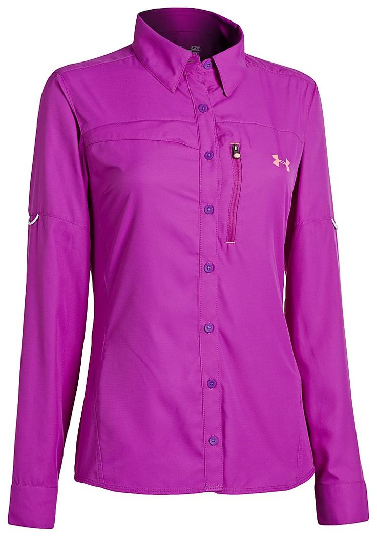 Under Armour Flats Guide Fishing Shirts for Ladies - Long Sleeve | Bass Pro Shops Best of both long and short sleeve if on a budget. Has button tabs to roll up during change of weather. UPF protection Four different colors to choose from. I love all Under Armour Women's Fishing Clothing! Whomever designed this line did their homework or was a fisherlady!! Hope they come out with new products soon!!