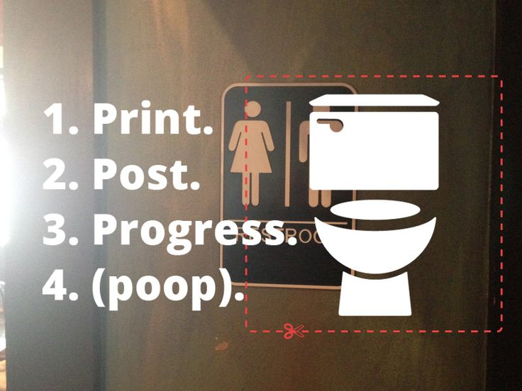 Print one of the signs below and attach it to any single-stall, individual bathroom you see in your community that is currently (and unnecessarily) gendered. Raise awareness. Create change.